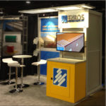 Ezros 10-ft exhibit for MetalCon by Synergy Design Group