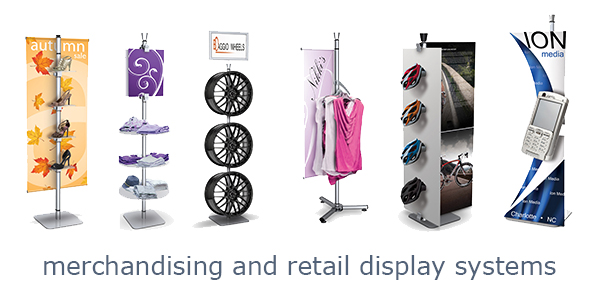Tool-free retail display systems