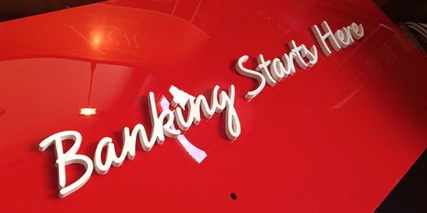 3D lettering installation