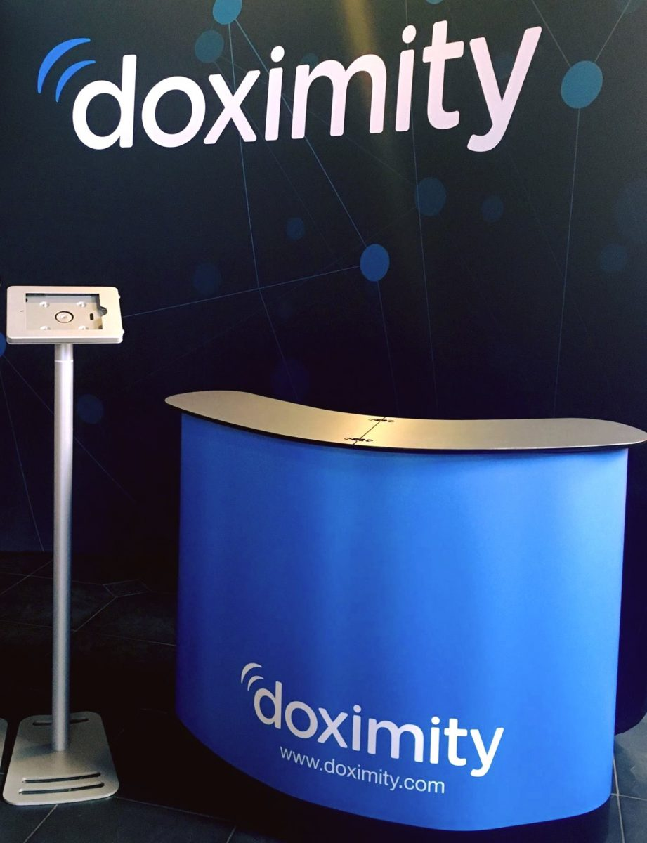 doximity 10-ft booth custom back drop custom exhibit design