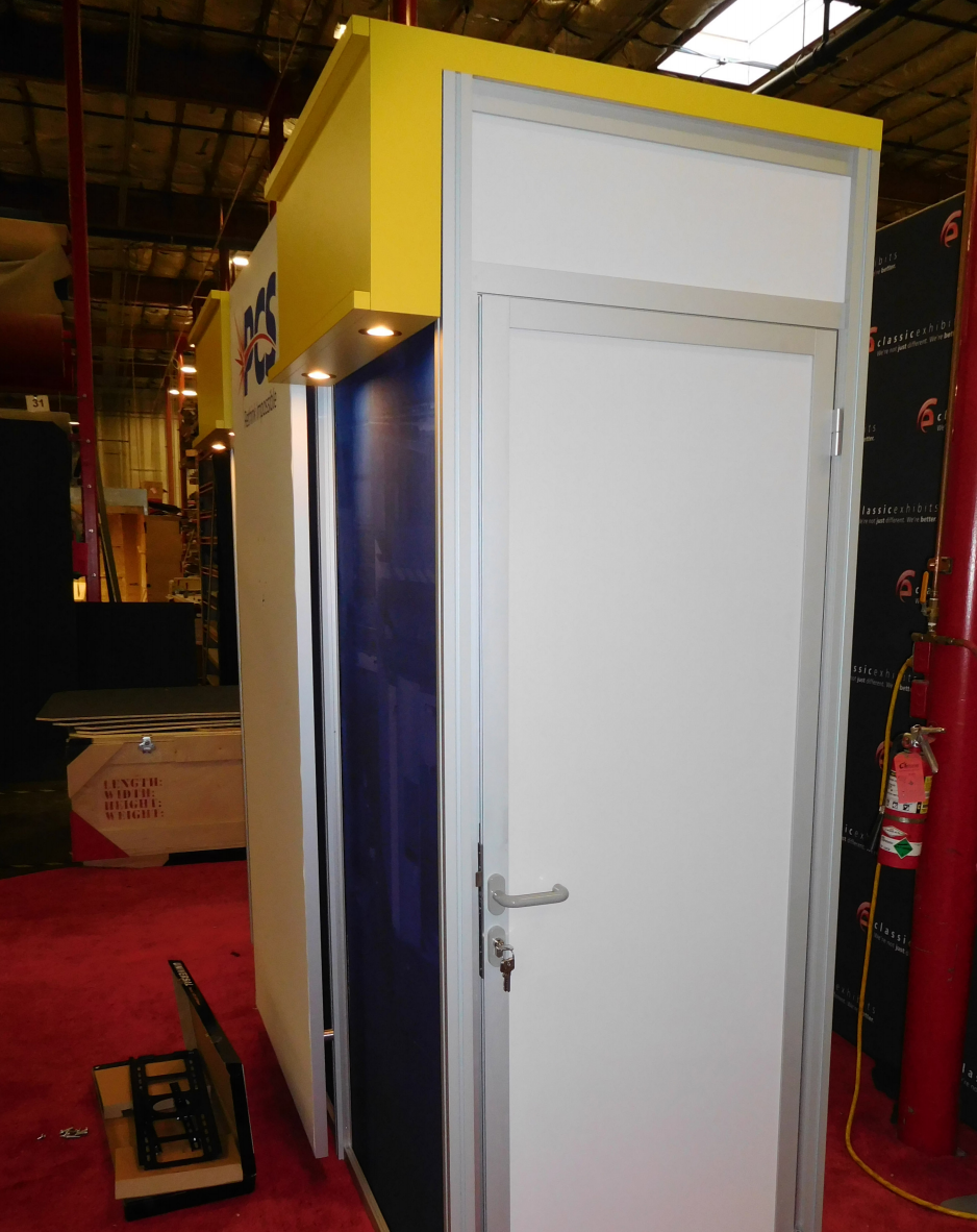Precision Cutting closet storage closet trade show booth design