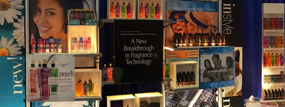 retail instyle fragrances trade show display