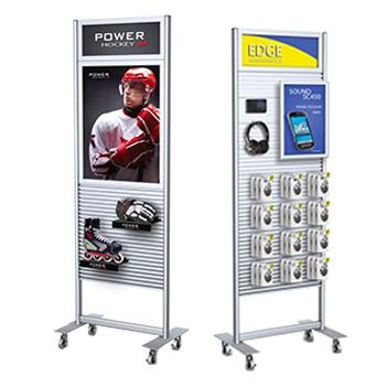 merchandising retail display aluminum slatwall