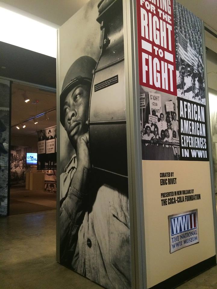 national world war ii museum fighting for the right to fight custom display column