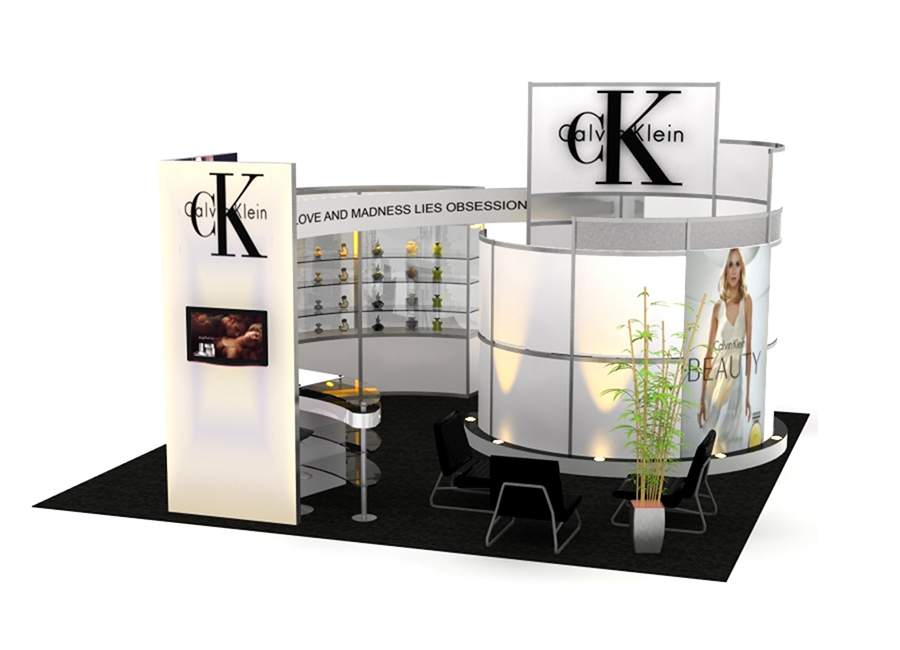 classic conference room exhibit trade show display booth idea rendering