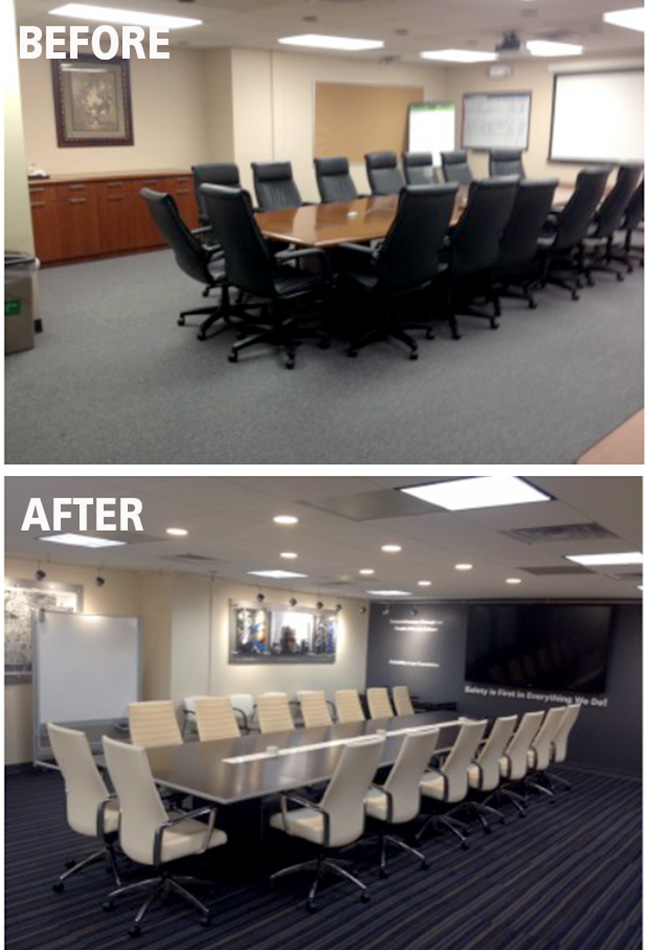 norco manufacturing complex conference room branded environment