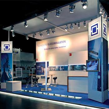 octanorm custom exhibit large trade show booth display idea