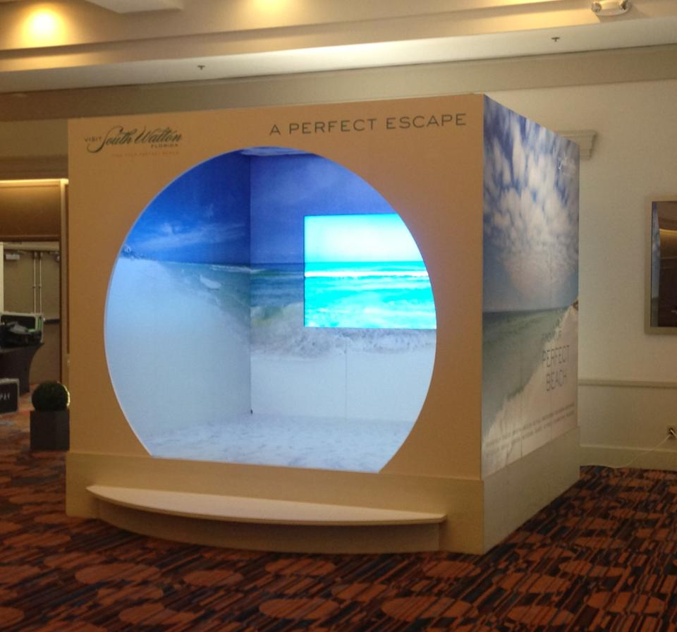 custom beach display custom exhibit design interactive