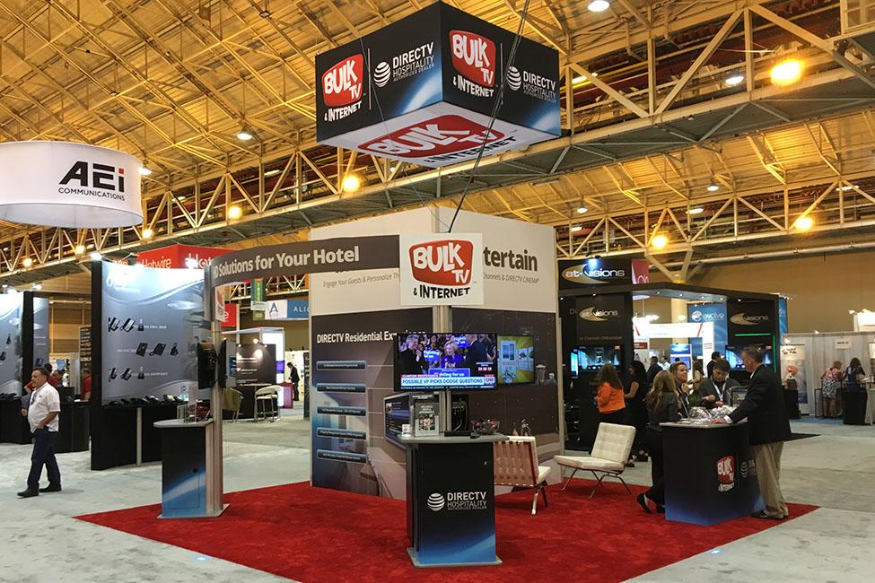 Bulk TV display trade show booth display design custom exhibit design