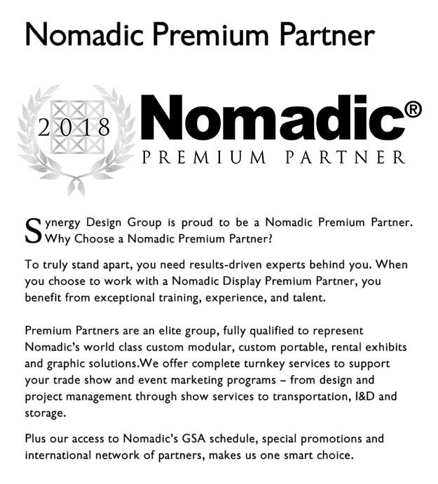 nomadic premium partnership partner 2018 synergy design group