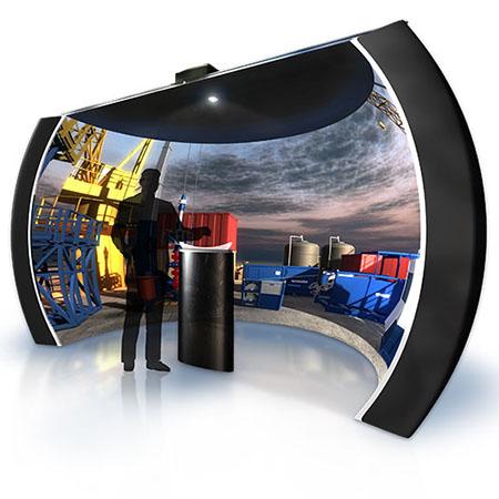 virtual reality interactive technology 3d exhibit booth design ideas synergy design group exhibitry touchscreen theater kiosk