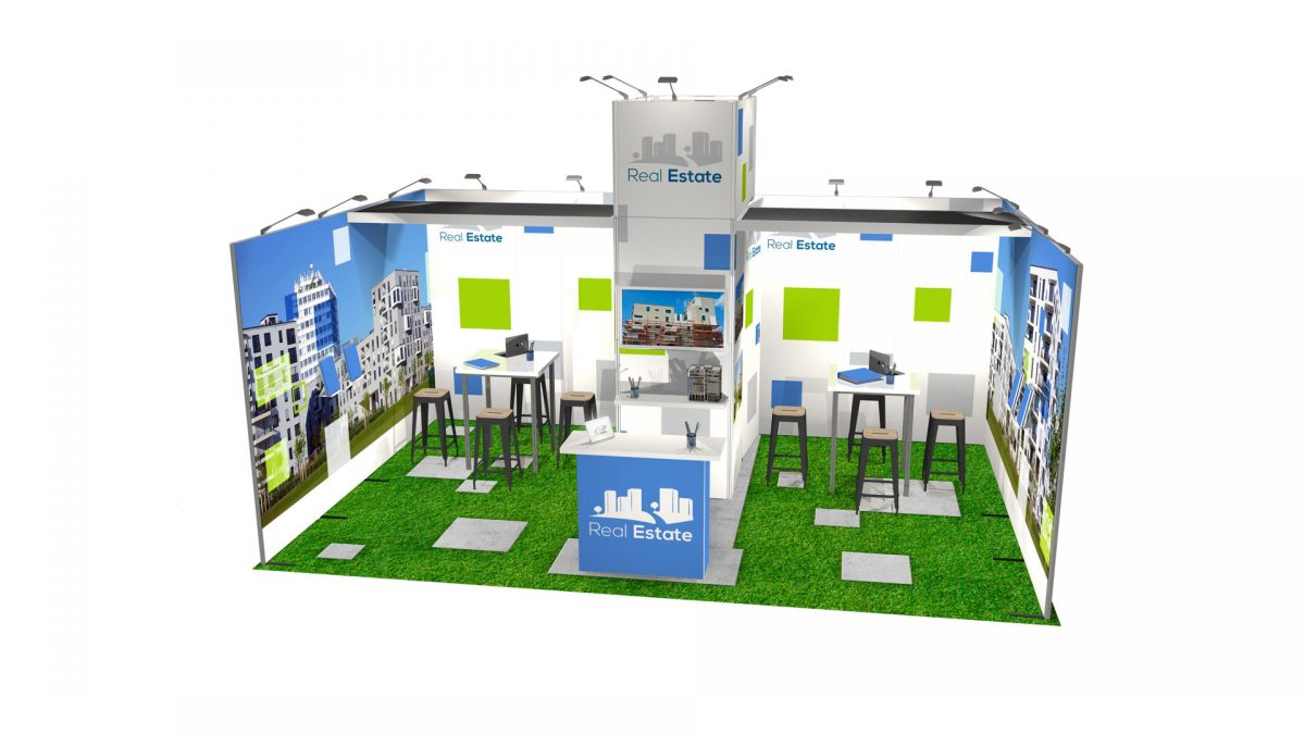 duo wall exhibit structure trade show booth display design synergy design group