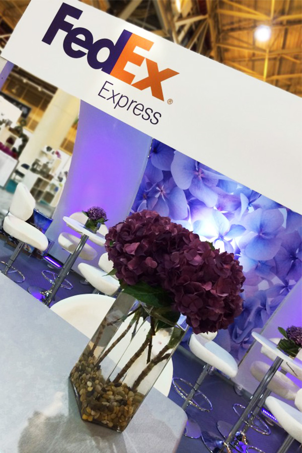 fedex custom exhibit design display rental trade show booth