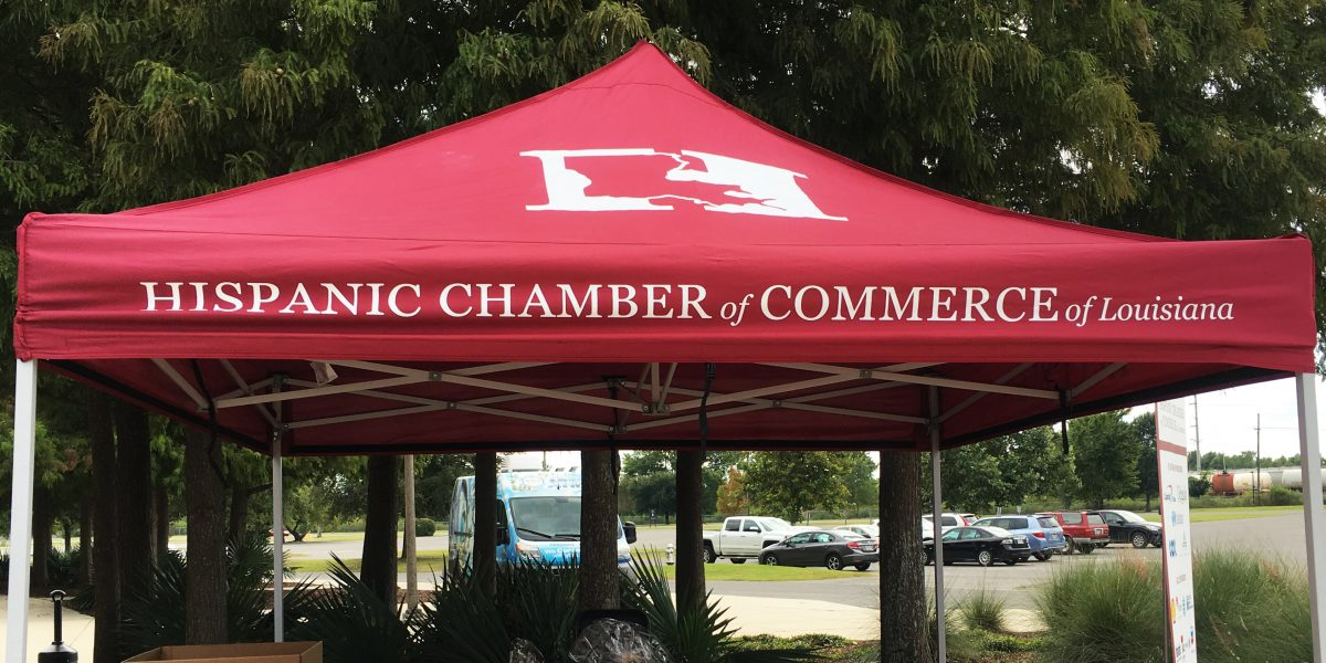 hispanic chamber of commerce of louisiana outdoor display event tent