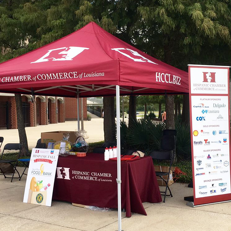 hispanic chamber of commerce of louisiana event tent outdoor display