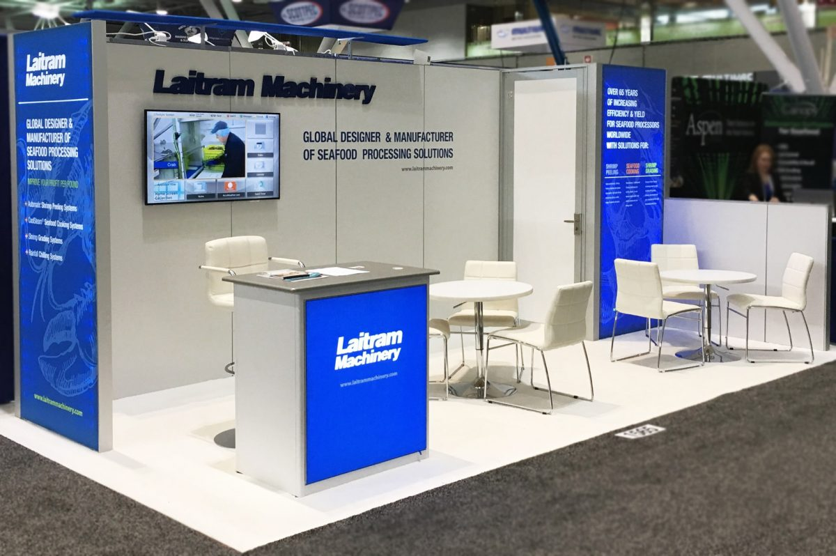 laitram machinery sena 2017 trade show display exhibit booth
