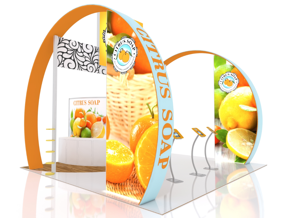 expand counter trade show booth exhibit design display ideas synergy design group