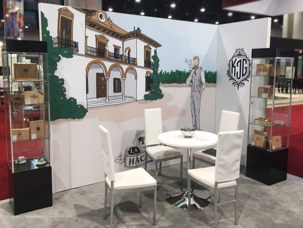casa fernandez warped cigars IPCPR Las Vegas 2017 trade show booth display
