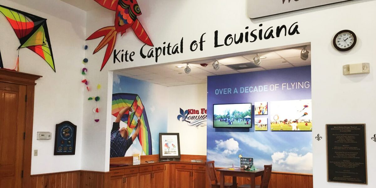 west baton rouge parish kite capital of louisiana branded environment custom wallpaper display