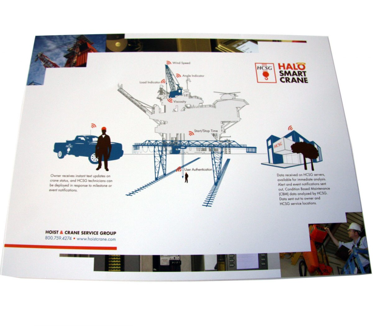 hoist and crane graphic design print brochure design brand