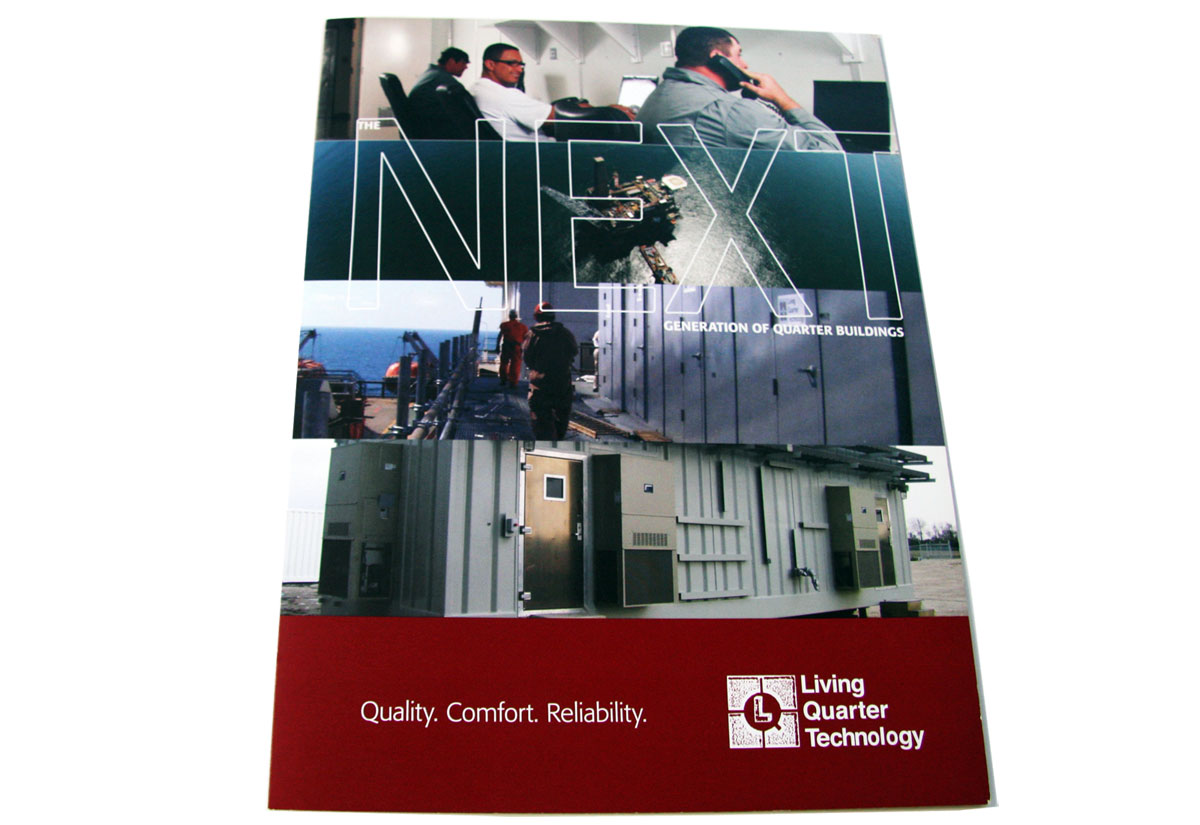living quarter technology brochure print