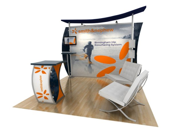 curve canopy trade show displays