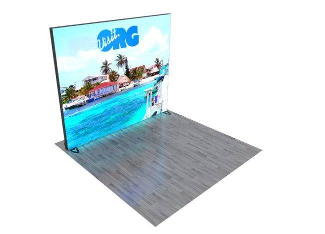 backlit graphic trade show displays