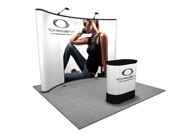pop up back wall trade show displays