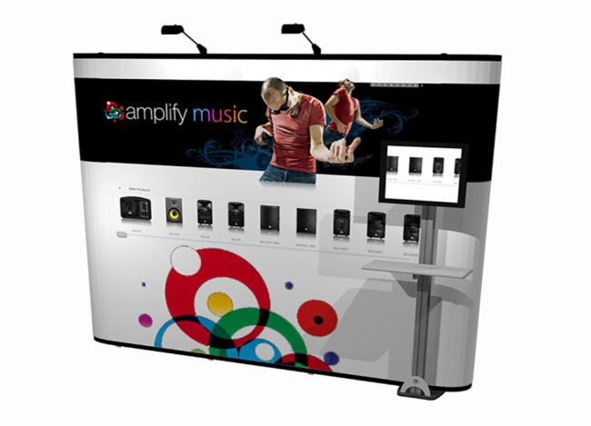 backwall graphic trade show displays