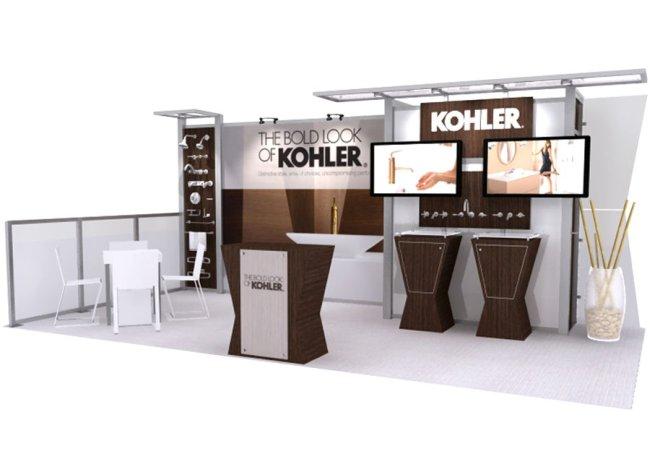 10x20 modern trade show displays