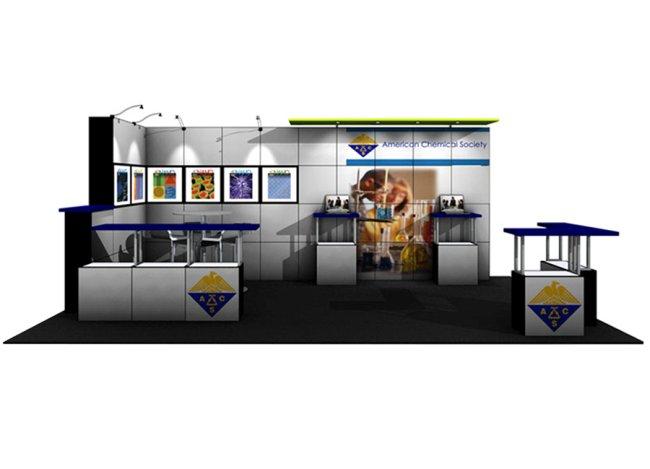 10x20 multiquad trade show displays