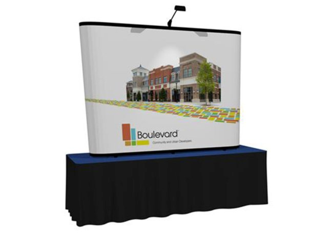 popup graphic table trade show displays
