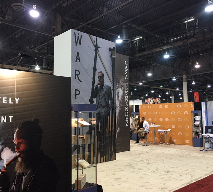 warped cigars exhibit booth idea custom exhibit design trade show booth display turnkey-solutions