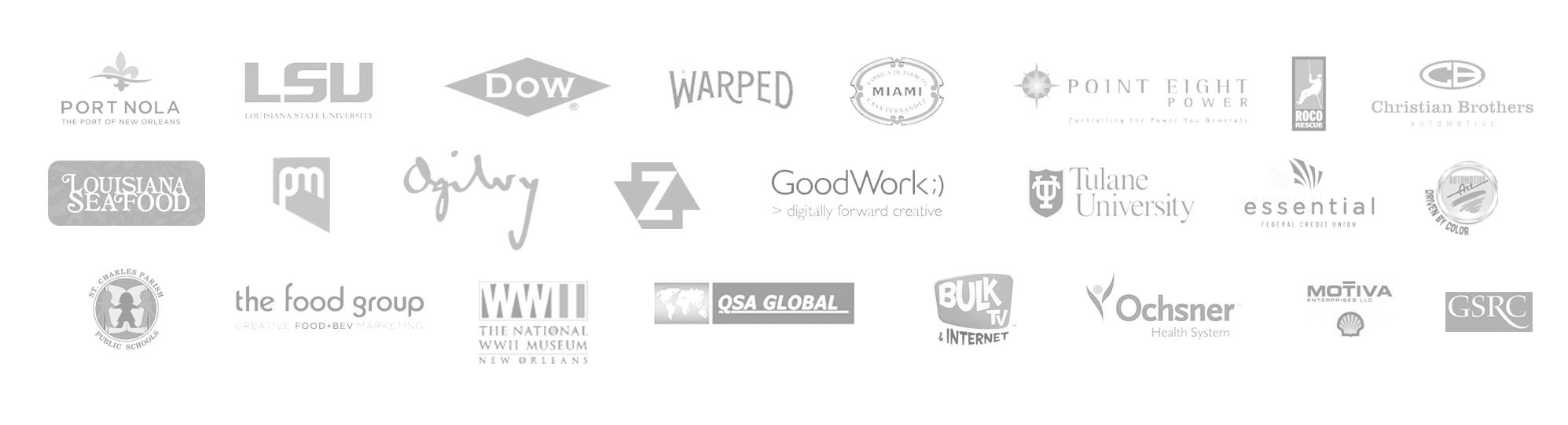 exhibit design company client logos