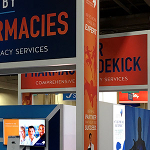 wilmark group for comprehensive pharmacy services island trade show booth