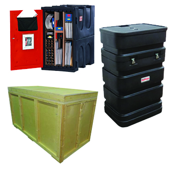 exhibit accessories cases crates