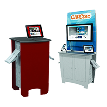 exhibit accessories counter kiosk