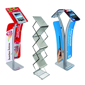 exhibit accessories literature tablet stand