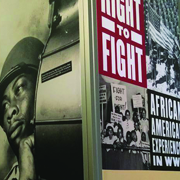branded interiors museum displays national world war ii museum fighting for the right to fight exhibition