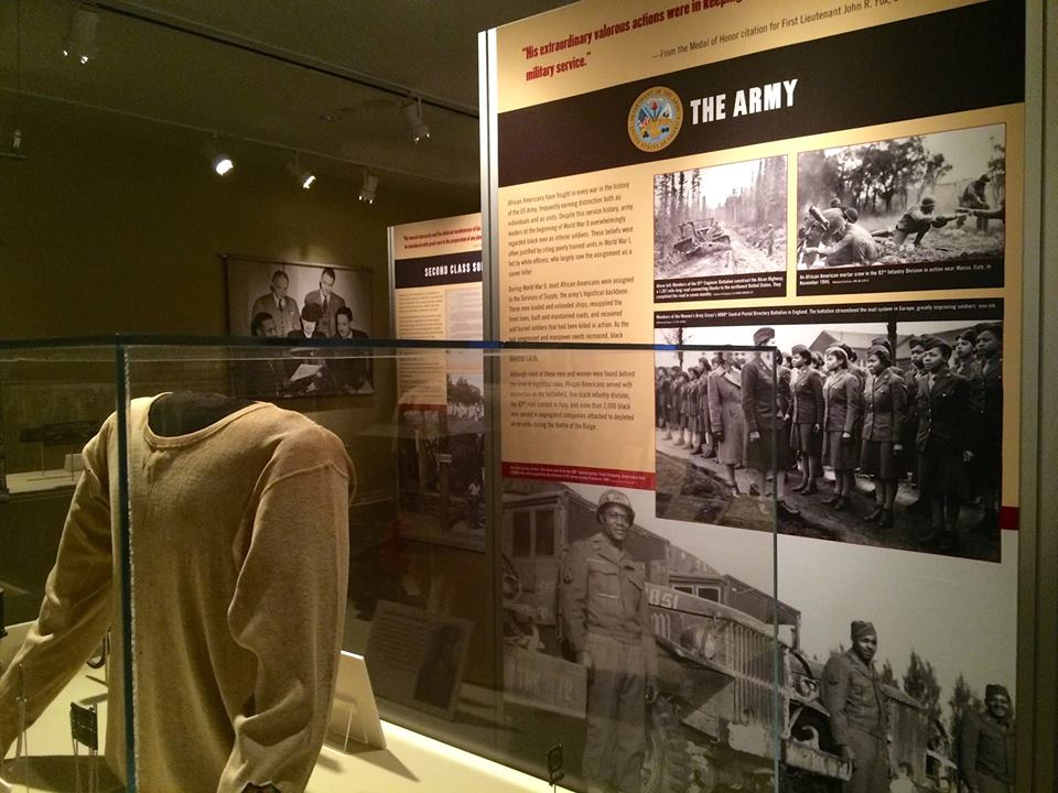 National WW2 showcase museum display