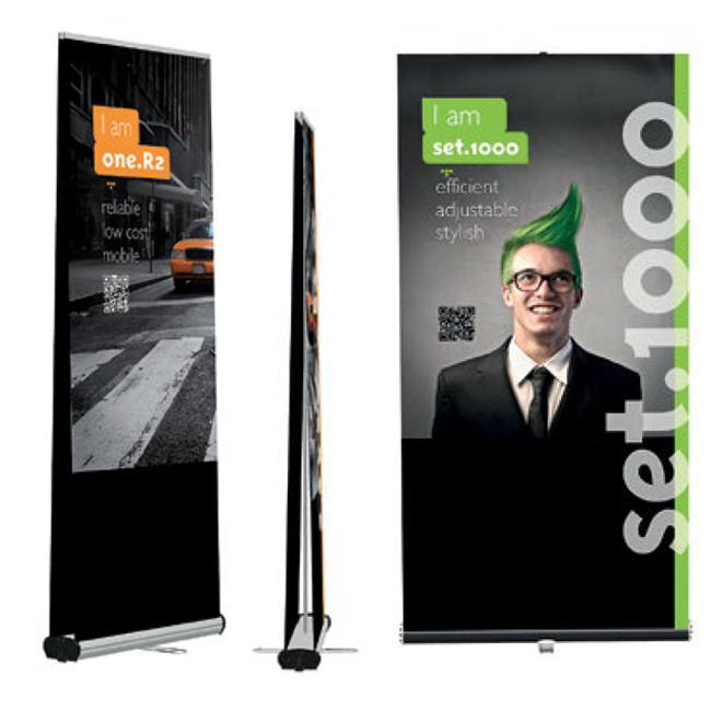 DUO display bannerstand Ultra portable