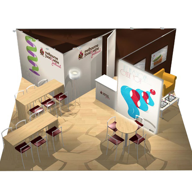 DUO display modular H line design trade show booth
