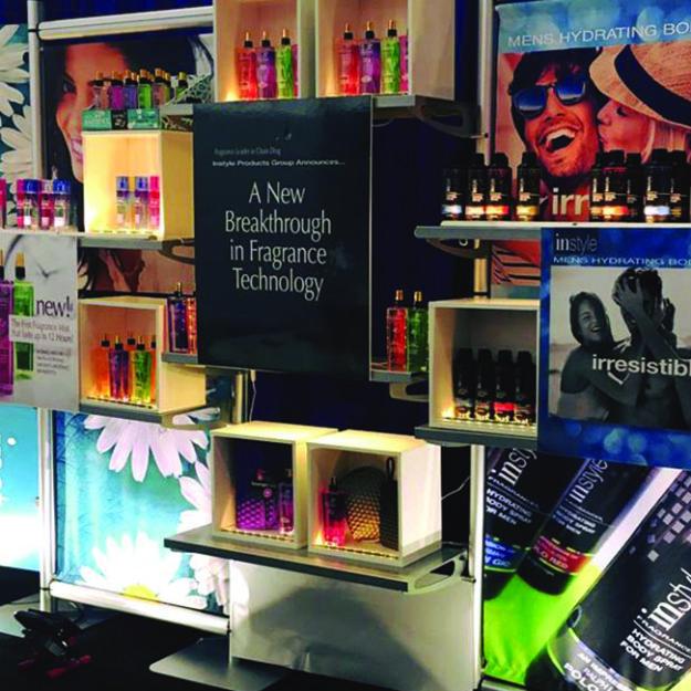 instyle fragrances retail exhibit
