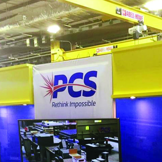 PCS rethink Impossible signage interactive trade show booth display design custom back wall