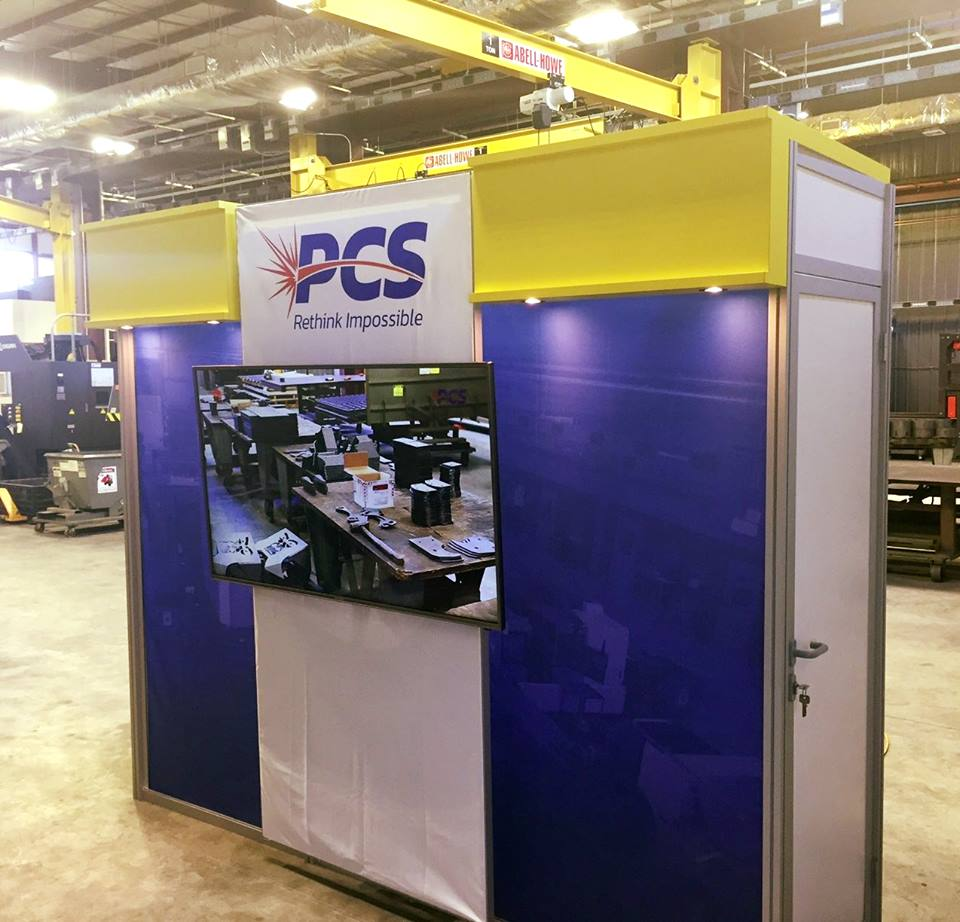 custom beam exhibit interactive booth storage