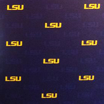 LSU step and repeat graphic logo backdrop
