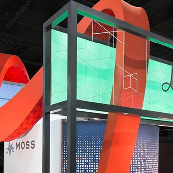 moss custom exhibit trade show booth display design idea