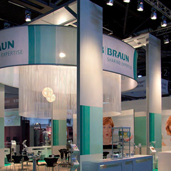 octanorm exhibit sheer trade show display