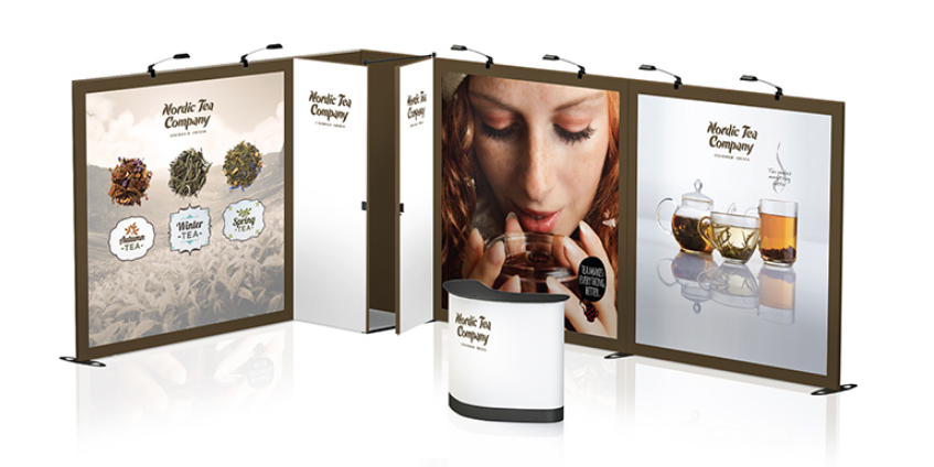 expand fabric display modular exhibit system trade show booth design idea synergy design group