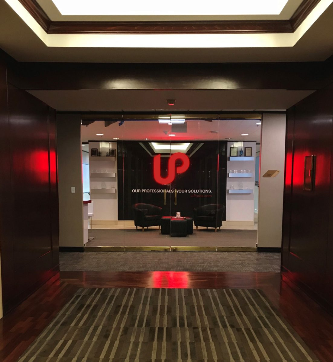 up professional solutions branded interior lobby